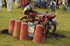 Chata Parab Umbrella Fair. This picture was taken at Chata Parab in Puruliya District of West Bengal. Chata Parab is a tribal festival where tribal people gather royalty free stock photo