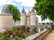 Chataeau Sully-s-Loire. Sully-s-Loire, France: Along the route of the castles on the Loire River - Chataeau Sully-s-Loire Stock Photography