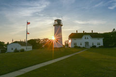 Chatam Lighthouse sunset Royalty Free Stock Image