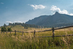 Chataqua Park. Open fields before the flatirons in Chataqua park in Boulder, Colorado Royalty Free Stock Photo