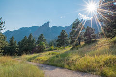 Chataqua Park. Open fields before the flatirons in Chataqua park in Boulder, Colorado Stock Photography