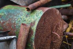 Chatarra oxidada vieja Imágenes de archivo libres de regalías