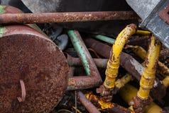 Chatarra oxidada vieja Imagen de archivo libre de regalías