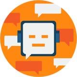 Chatbot摘要象例证 库存图片