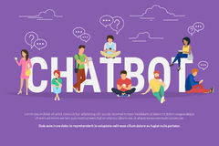 Chatbot begreppsillustration royaltyfri illustrationer