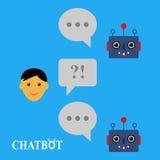 Chatbot e conversazione umana illustrazione di stock