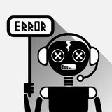 Chatbot Error Icon Concept Black Chat Bot Or Chatterbot Service Of Online Support Technology stock illustration