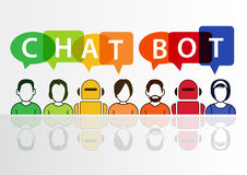 Chatbot infographic как концепция для искусственного интеллекта Стоковое Фото