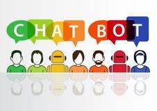 Chatbot som är infographic som begreppet för konstgjord intelligens Arkivfoto