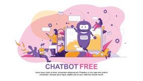 Chatbot Sztucznej inteligencji Bezpłatna technologia ilustracja wektor