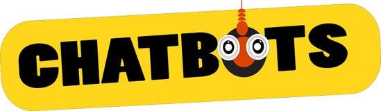 Chatbots词商标概念性例证 免版税库存照片