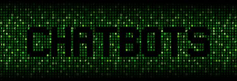 Chatbots tekst na hex ilustracji zdjęcie royalty free