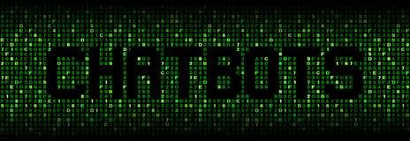 Chatbots-Text auf Hexenillustration lizenzfreies stockfoto