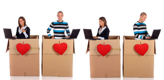 Chatbox love couple Royalty Free Stock Images