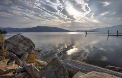 Chatcolet Lake landscape. Stock Photos