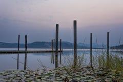 Chatcolet lake at sunrise. Stock Image