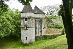 Chateau在Thonac的de Losse在多尔多涅省 图库摄影