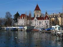 Chateau 01 d'Ouchy, Losanna, Svizzera Fotografie Stock Libere da Diritti