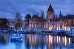 Chateau 06 d'Ouchy, Losanna, Svizzera Fotografie Stock
