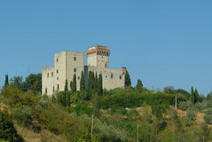 A Chateau. A hilltop Chateau in Italy Royalty Free Stock Image