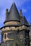 Chateau. The chateau at vitre in brittany northern france stock photography