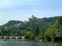 Chateau above Dordogne Royalty Free Stock Photography