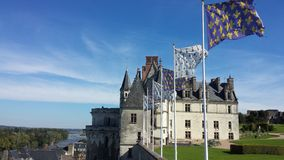 Chateau Amboise. Chateau at Amboise, Loire River, France Royalty Free Stock Photo