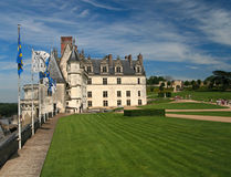 The chateau of Amboise in the Loire valley. France Royalty Free Stock Photography