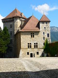 Chateau, Annecy ( France ). Old  castle in Annecy, Haute Savoie, France Royalty Free Stock Photos