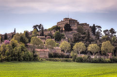 Chateau of Ansouis, France. HDR image of the Chateau of Ansouis in the southern region of Provence, France Stock Photo