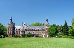 Chateau Arenbergh, Belgium. Chateau Arenbergh, Flanders, Belgium, a Renaissance and NeoGothical castle situated in the Arenbergh Park near the city of Louvain stock image