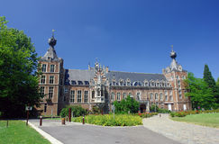 Chateau Arenbergh, Belgium. Chateau Arenbergh, Flanders, Belgium, a Renaissance and NeoGothical castle situated in the Arenbergh Park near the city of Louvain stock images