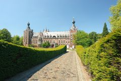 Chateau Arenbergh, Belgium. Chateau Arenbergh, Flanders, Belgium, a Renaissance and NeoGothical castle situated in the Arenbergh Park near the city of Louvain royalty free stock images