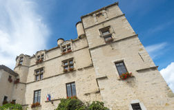 Chateau-Arnoux. (Alpes-de-Haute-Provence, Provence-Alpes-Cote d'Azur, France), the historic castle Stock Images