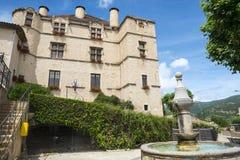 Chateau-Arnoux. (Alpes-de-Haute-Provence, Provence-Alpes-Cote d'Azur, France), the historic castle Royalty Free Stock Photography