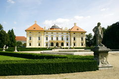 Chateau Austerlitz. Baroque chateau is situated in Czech Republic. It was built in 18th century according to the project of Italian architects D.Martinelli, I Royalty Free Stock Photography