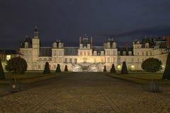 Chateau av Fontainebleau Arkivfoto