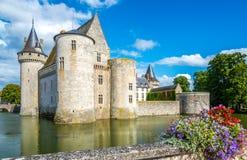 Chateau av Sully sur Loire Arkivfoton