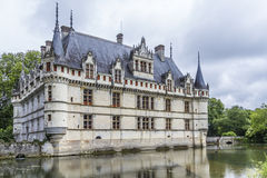 Chateau Azay-le-Rideau, earliest French chateaux Royalty Free Stock Photos