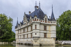 Chateau Azay-le-Rideau, earliest French chateaux Royalty Free Stock Images