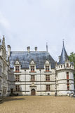Chateau Azay-le-Rideau, earliest French chateaux Stock Image