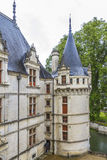 Chateau Azay-le-Rideau, earliest French chateaux Stock Images