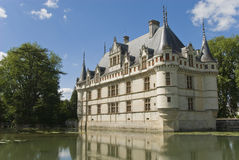 Chateau Azay-le-Rideau, France. Famous French castle Azay-le-Rideau. View from the park. Loire Valley, France stock photo