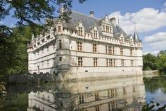 Chateau Azay-le-Rideau, France stock photography