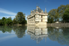 Chateau Azay-le-Rideau, Loire, Fra Royalty Free Stock Images