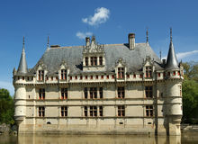 Chateau Azay-le-Rideau, Loire, France Royalty Free Stock Image