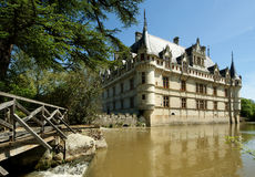 Chateau Azay-le-Rideau, Loire, France Royalty Free Stock Photography