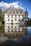 Chateau Azay-le-Rideau, Loire, Frankrike Royaltyfri Bild