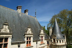 Chateau Azay-le-Rideau (was built from 1515 to 1527), Loire, France Stock Photography