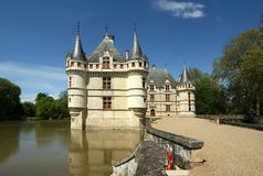 Chateau Azay-le-Rideau (was built from 1515 to 1527), Loire, France Royalty Free Stock Photos